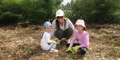 Community tree planting in Voyager Point