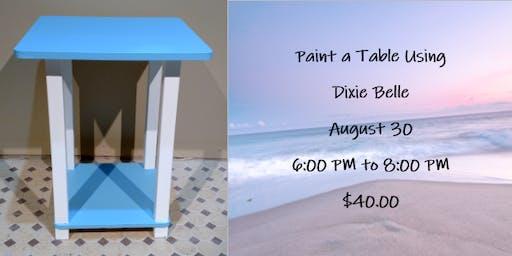 Paint a Table Using Dixie Belle