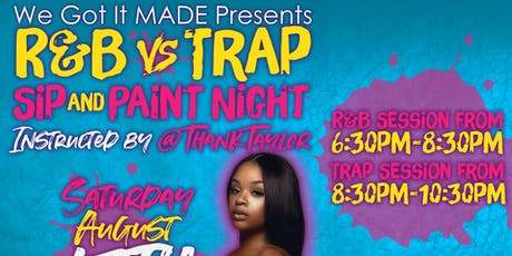 Sip and Paint: R&B vs Trap tickets