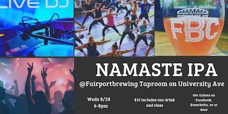 Namaste IPA: Soulful Yoga, DJ & Beer tickets