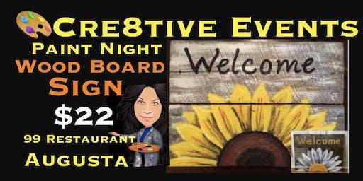 $22 Paint Night - Wood Board @ 99 in Augusta