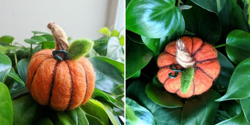 Felted Pumpkins Workshop