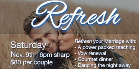 Refresh Couples Conference tickets
