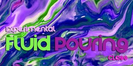 Experimental Fluid Pour Painting Class! tickets