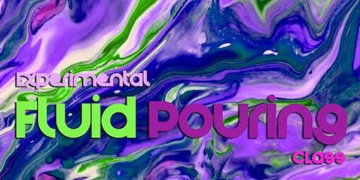 Experimental Fluid Pour Painting Class!