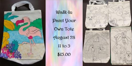 Walk-In: Paint Your Own Tote tickets