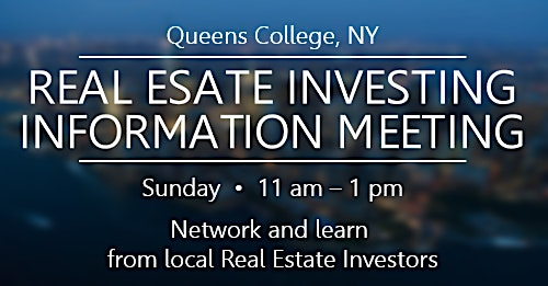 REAL ESTATE INVESTING INFORMATION MEETING- Online