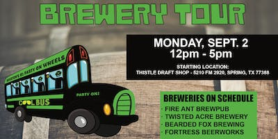 Cool Bus Houston Brewery Tour - LABOR DAY WEEKEND - 9/2