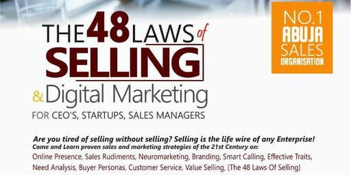 48 LAWS OF SELLING AND DIGITAL MARKETING FOR CEO's AND SALES MANAGERS