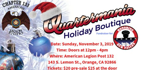 2nd Annual Quartermania/Holiday Boutique FUNdraiser! tickets