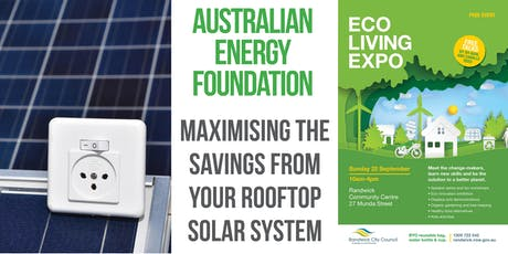 Maximising the savings from your rooftop solar system tickets