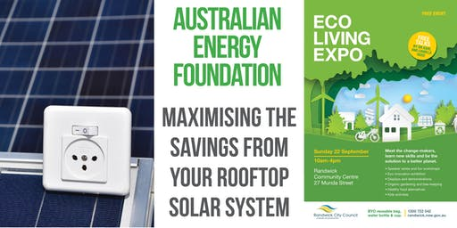 Maximising the savings from your rooftop solar system