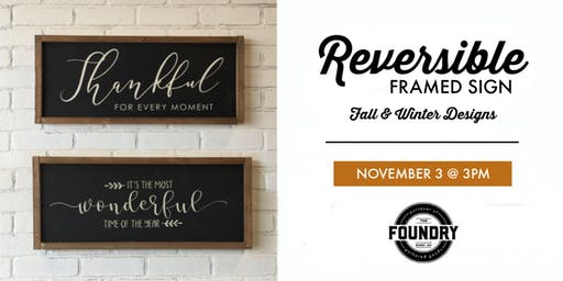 The Foundry - Reversible Holiday Sign : Fall & Winter