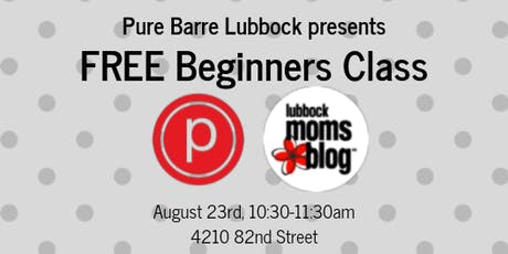 Lubbock Moms Blog - Pure Barre for Beginners tickets