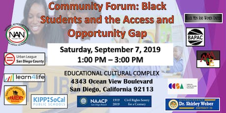 Community Forum: Black Students and the Access and Opportunity Gap tickets
