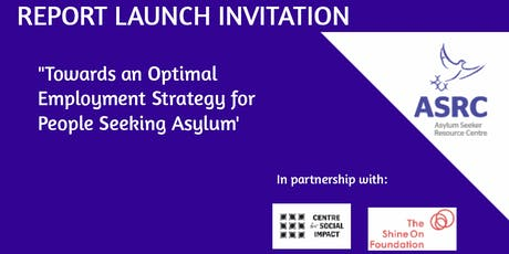 'Towards an optimal employment strategy for people seeking asylum in Victoria' Report Launch tickets