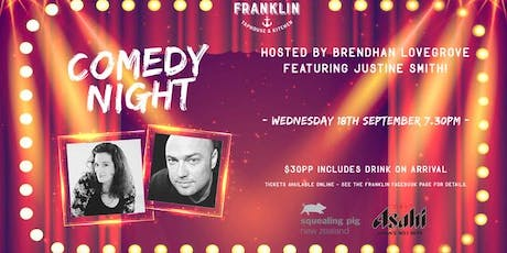 Comedy Night: Brendhan Lovegrove & Justine Smith tickets