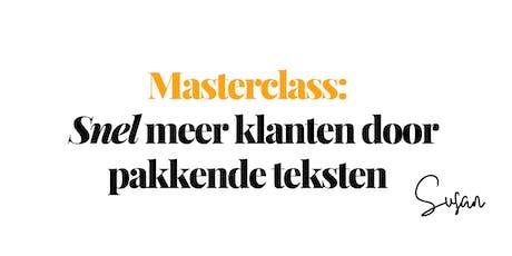 Masterclass : Snel meer klanten door pakkende teks tickets