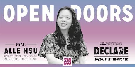 APAture 2019 presents Open Doors (a film showcase) tickets
