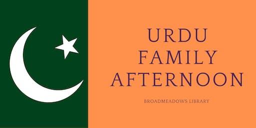 Urdu Family Afternoon