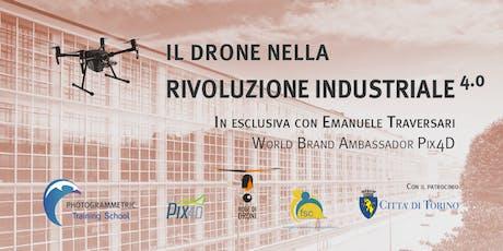 Il drone nella rivoluzione industriale 4.0 - Piemonte 2 biglietti