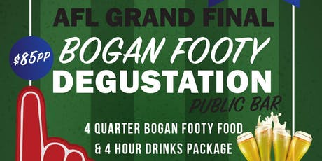 AFL Grand Final 'Bogan Degustation' & Drinks Package tickets