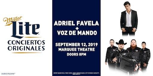 Miller Lite Presents: Adriel Favela + Voz de Mando - Sept 12 - Tempe, AZ