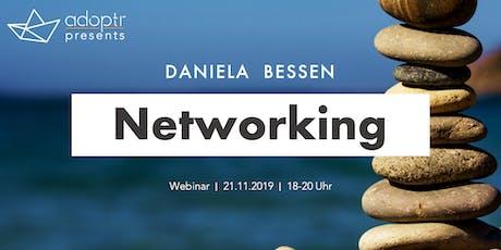 adoptr presents: Webinar on Networking feat. Daniela Bessen Tickets