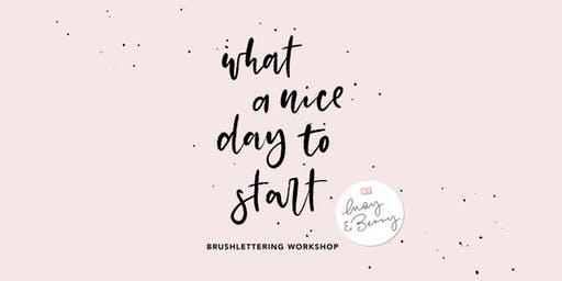 Brushlettering Workshop 24. Oktober 2019