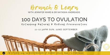 Brunch & Learn - 100 Days to Ovulation: Optimising Preconception  tickets