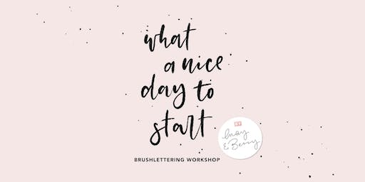Brushlettering Workshop 28. November 2019