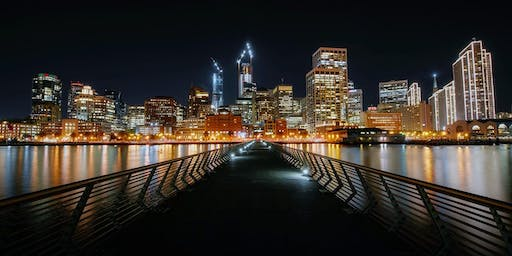 The Ultimate Night Tour of San Francisco - via a small sight seeing shuttle