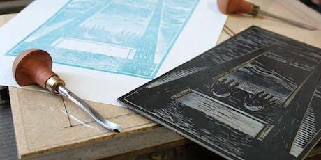 Puntasecca e linoleum | Workshop di stampa biglietti