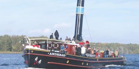Fahrt mit Historischem Dampfer ANDREAS (Abdampfen) Tickets