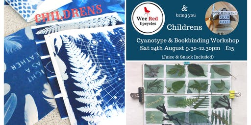 Childrens Cyanotype & Bookbinding Workshop - Bookbinding with Cass