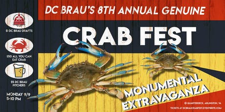 DC Brau's 8th Annual Genuine Crab Fest Monumental Extravaganza!! tickets