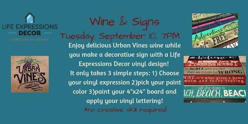 Wine & Signs at Urban Vines