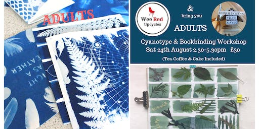 Adults Cyanotype & Bookbinding Workshop - Bookbinding with Cass