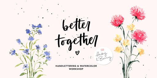 Watercolor & Lettering Workshop 20. Oktober 2019