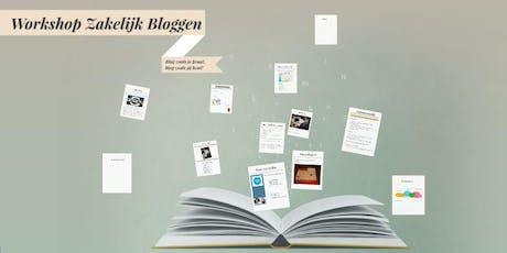 Workshop Zakelijk Bloggen Zomeractie tickets