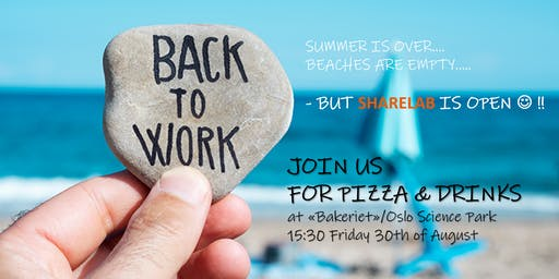 Back to work party - pizza & drinks