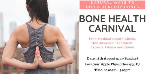 Free Bone Health  Carnival With Total Health Screening