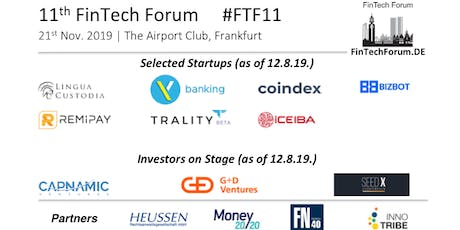 11th FinTech Forum | 21st Nov. 2019 Tickets