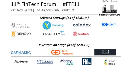 11th FinTech Forum | 21st Nov. 2019
