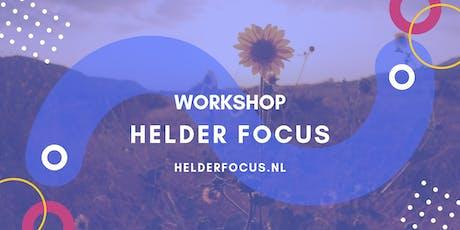 Workshop Helder Focus voor Ondernemers tickets