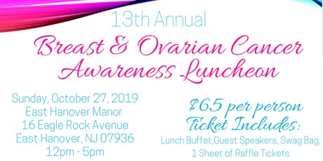 13th Annual Breast and Ovarian Cancer Awareness Luncheon tickets