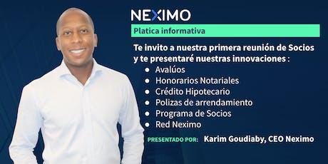 Presentación de NEXIMO en Monterrey, la nueva inmobiliaria digital. entradas
