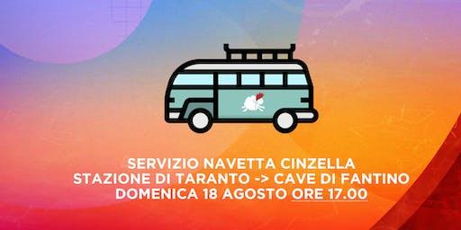 Transfer Navetta Cinzella Ore 17.00 | Stazione Taranto - Cave di Fantiano