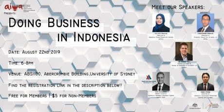 Doing Business in Indonesia 2019 tickets