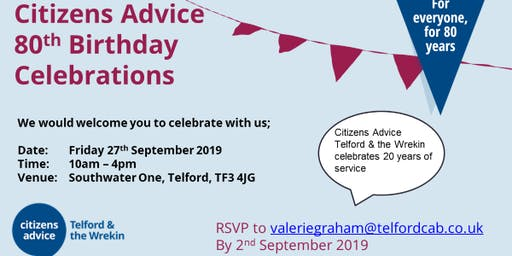 Citizens Advice Telford & the Wrekin: Birthday celebrations